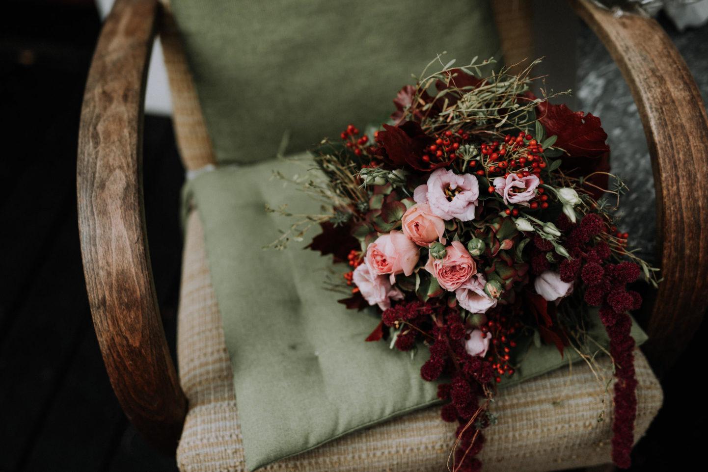 Vintage Brautstrauss Hochzeit
